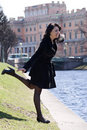 Free Italian Young Woman At The River Channel Stock Photo - 14404040
