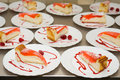 Free Raspberry Cheesecakes With Syrup Royalty Free Stock Photo - 14408635