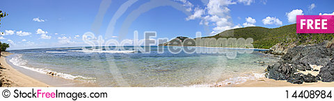 Free Reef Bay Beach Panorama Stock Images - 14408984