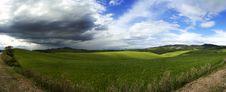 Panoramic Fields Stock Photography