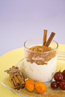 Cinnamon Rice Pudding Royalty Free Stock Image