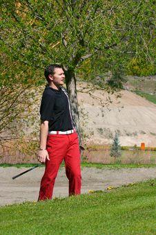 Free Male Golfer Stock Photo - 14400590