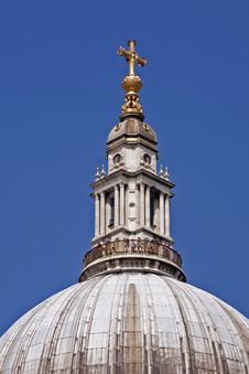 Tower With Cross Of Saint Paul Cathedral Royalty Free Stock Image