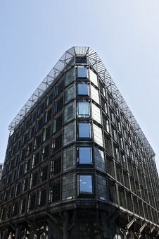 Vertical Building And Windows From Offices In UK Royalty Free Stock Image