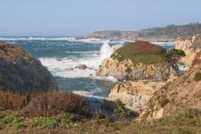 Colorful Coastline Of California Royalty Free Stock Photography