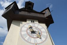 Free Clock Tower In Graz, Austria Royalty Free Stock Photography - 14400937