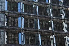 Exterior Of Isolated Windows From Offices In UK Royalty Free Stock Image