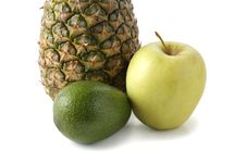 Free Fruit On A White Background Royalty Free Stock Images - 14401449