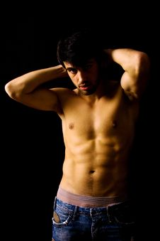 Man With Atletic Body Stock Photo