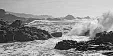 Free Pounding Surf In Monochrome Royalty Free Stock Image - 14401606