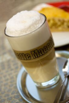 Free Coffee Latte Macchiato In A Glass Stock Photos - 14403133