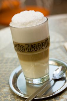 Free Coffee Latte Macchiato In A Glass Stock Photos - 14403483