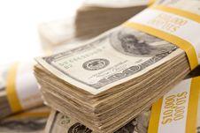 Free Stacks Of One Hundred Dollar Bills Royalty Free Stock Image - 14403606