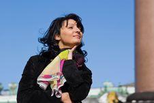 Free Beautiful Italian Woman On The City Street Stock Image - 14404021