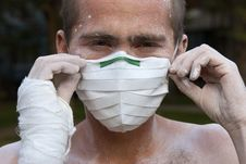 Free Worker In Protective Mask Royalty Free Stock Image - 14404156