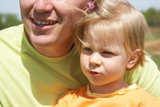 Free Happy Father With His Little Daughter Stock Photography - 14404162