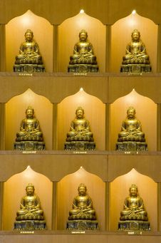 Bronze Buddha Statues Royalty Free Stock Images