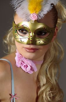 Free Woman In Carnival Mask Royalty Free Stock Photography - 14404747