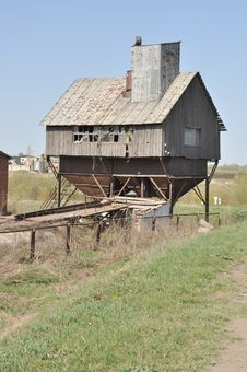 Free Rural Store, Unusual Abandoned Warehouse Royalty Free Stock Photography - 14404767