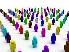 Colorful People Stock Image