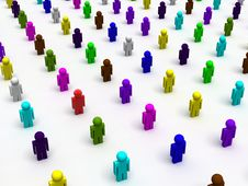 Colorful People Royalty Free Stock Images