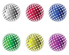 Halftone And Spheres Royalty Free Stock Image