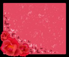 Free Background With Flowers Royalty Free Stock Photography - 14407217
