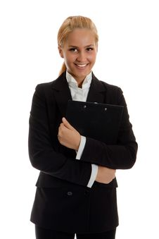 Free Businesswoman With Folder Stock Image - 14407851