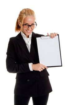 Free Businesswoman With Folder Royalty Free Stock Photos - 14407888