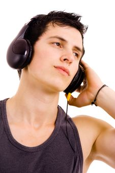 Free Man Listening Music Stock Image - 14408061