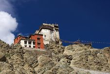 Free Buddhist Monastery In Leh In Ladakh Stock Images - 14408074