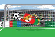 Free Mascot Soccer Goalkeeper Royalty Free Stock Image - 14408546