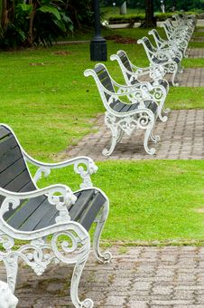 Free Benches In A Park Stock Photography - 14409122