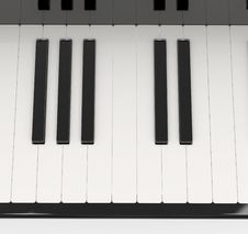 Free Piano Keyboard Black And White Royalty Free Stock Image - 14409176