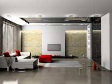 Free Living Room Royalty Free Stock Image - 14409246