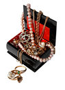 Free Casket With Jewelry Royalty Free Stock Photos - 14418628