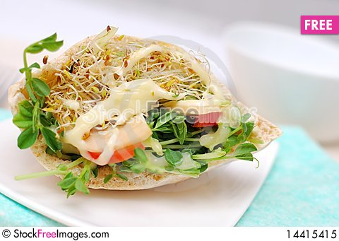 Free Healthy Salad For Breakfast Royalty Free Stock Photo - 14415415