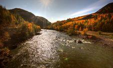 Free Autumn Colors Along Tuya River Royalty Free Stock Photography - 14410737