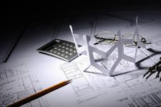 Free Drawings Of Building Stock Image - 14410821