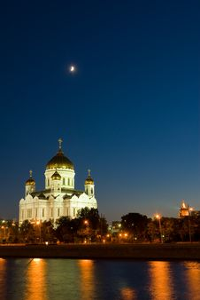 Free Moscow. Temple Of Christ The Savior Royalty Free Stock Photo - 14410875