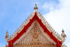 Thai Style Molding Art At Temple Stock Photos