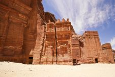Free Nabatean Tombs In Siq. Stock Photo - 14411470