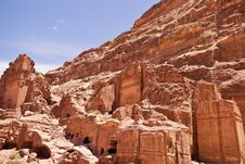 The View Of Large Cliff Side Tomb. Royalty Free Stock Photos