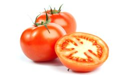 Free Red Tomato Vegetables With A Half Stock Photos - 14411943