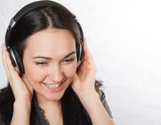 Free Happy Beautiful Girl Listening Music Stock Image - 14411991