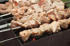 Free Half Done Shish Kebab Stock Image - 14412191
