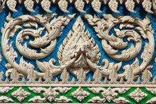 Thai Style Molding Art Stock Images