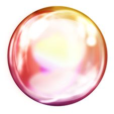 Free Clear Ball On White Background Royalty Free Stock Photo - 14412435