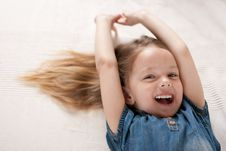 Laughing Little Girl. Stock Photos