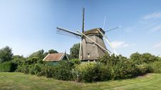 Free Panorama Of Dutch Windmill Stock Photos - 14412853